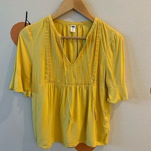 Deep yellow blouse with cute tassels